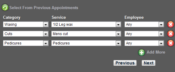 Beauty salon appointment