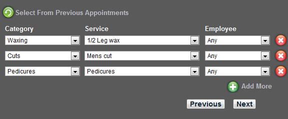 Beauty salon appointment