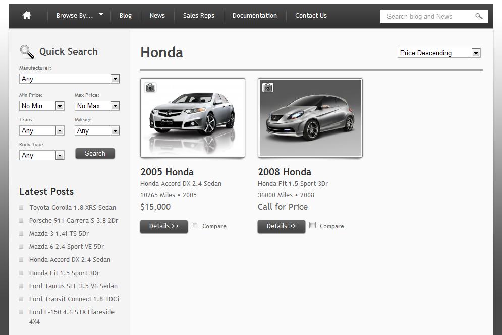 Car website