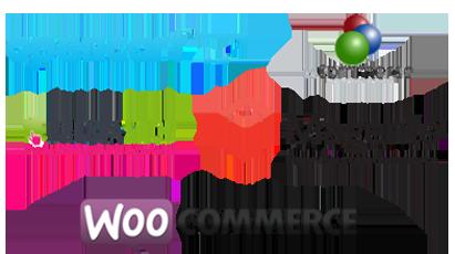 eCommerce platforms: opencart, osCommerce, Prestashop, Magento, WooCommerce
