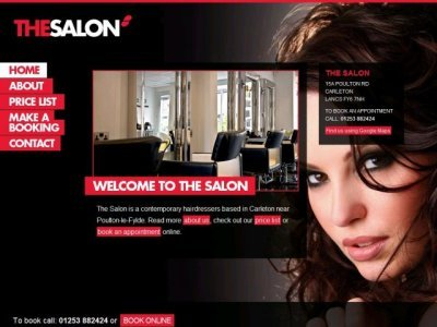 Hair salon web site Build your own salon