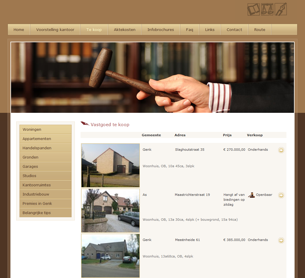 Notary website design